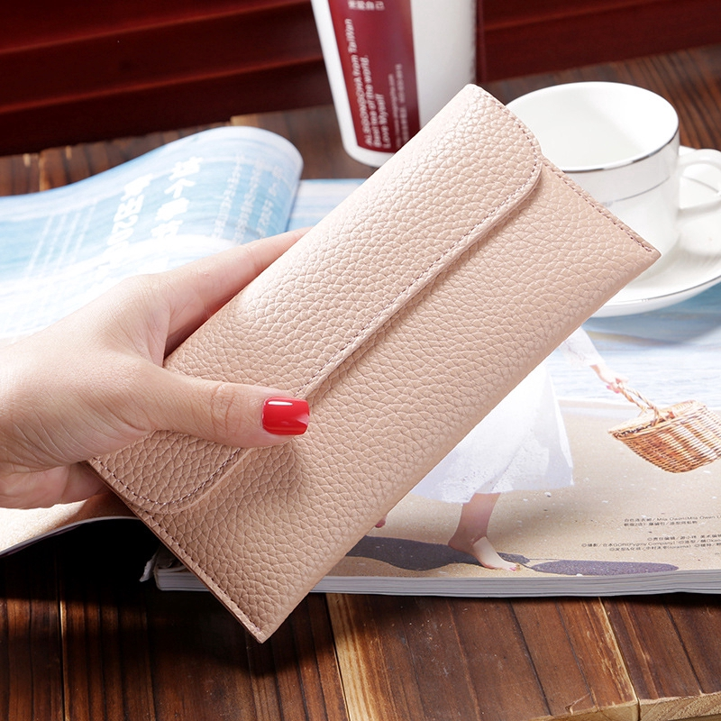 Women's Long Large-capacity Clutch Bag Multi-function Magnetic Button  Fashion Mobile Phone Purse 08