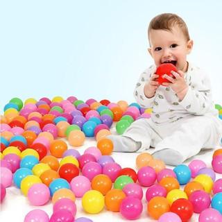 Bộ 100 trái bóng nhựa màu sắc cho bé