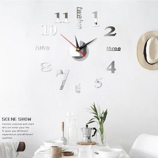 Đồng hồ FREESHIP Đồng hồ dán tường phù hợp với không gian văn phòng, ở nhà, thiết kế thông minh, sáng tạo 6971
