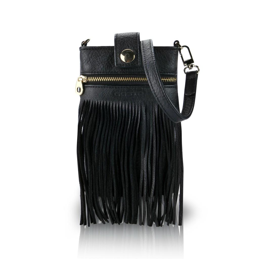 Túi Da Thật Gosto Fringy Leather Bag 1 - GDB000917BLK