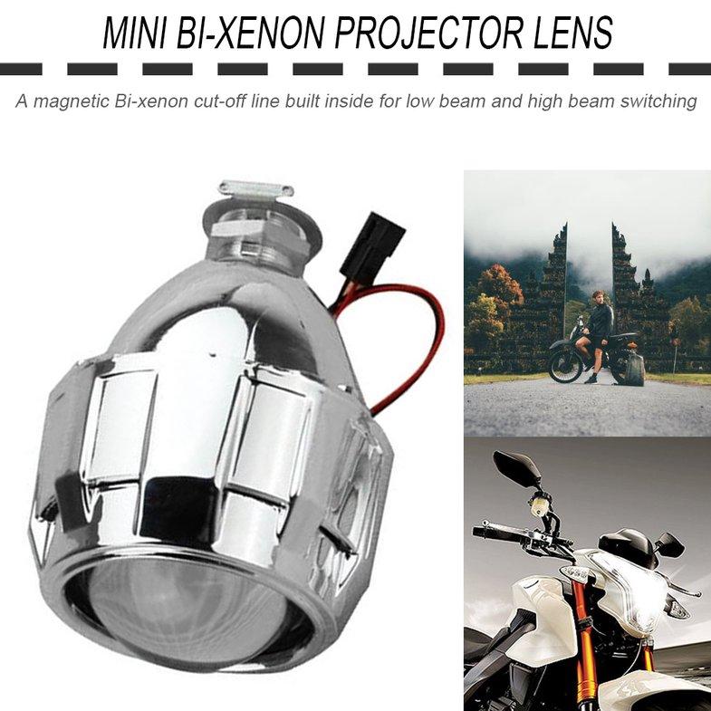 2.5 inch Xenon Bi-xenon HID Clear Projector Lens Shroud Headlight H1 H4 H7