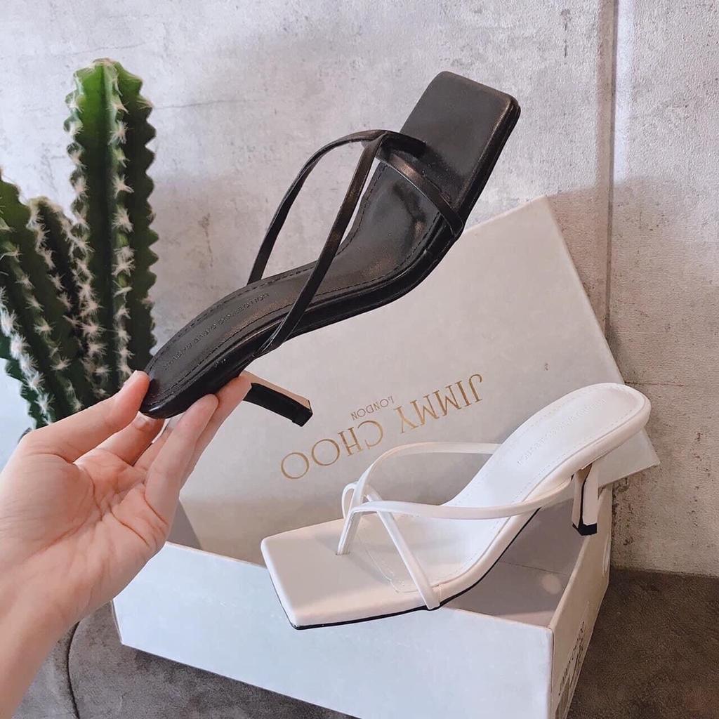 Dép thời trang nữ cao cấp gót cao 5p êm chân mã B7