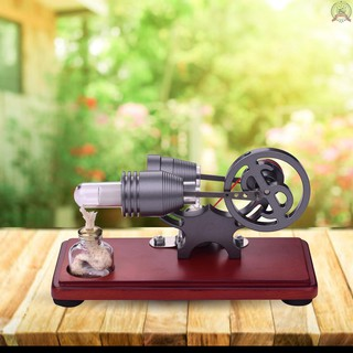 Ready Stock Aibecy Retro Style Hot Air Stirling Engine Motor Model Dollar Flywheel Design Educational Toy Electricity Generator with Colorful LED Light String DIY for Teacher Student Teens Children Adult