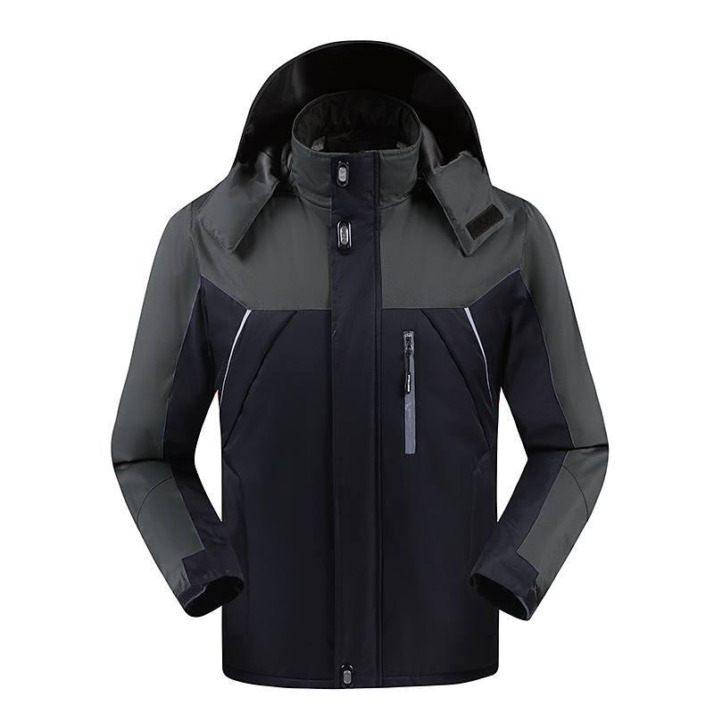 Áo khoác nam 3 lớp chống nước (Màu Đen) - Áo khoác dù