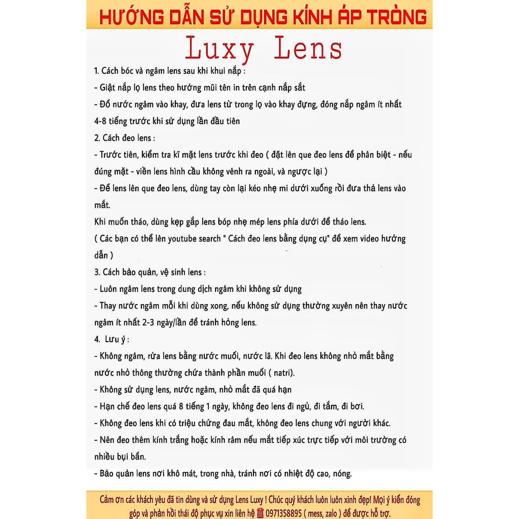Combo LUXY LENS Hàn Quốc 0-8 Độ Chất Lượng Số 1 Hà Nội - Kính Áp Tròng Cao Cấp