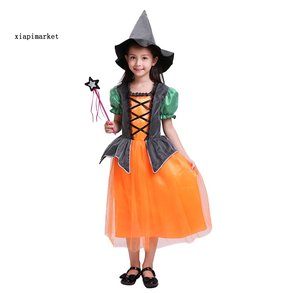 XP_Halloween Witch Vampire Girl Kids Cosplay Party Role Play Costume Fancy Dress