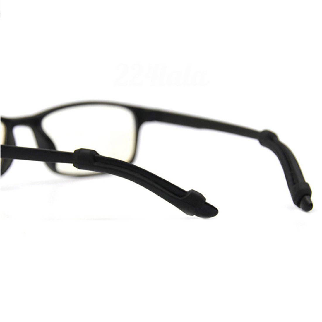 6X Hook Tip Eyeglass / Glasses / Spectacles Ear Grip Anti Slip Black