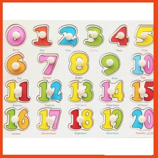 [KA] Bảng ghép hình bằng gỗ bảng số đếm 0-20 cho bé yêu