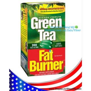 Date 6 2022 Viên Uống Trà Xanh Green Tea Extract 400mg Fat Burner 200 Viên của Mỹ thumbnail