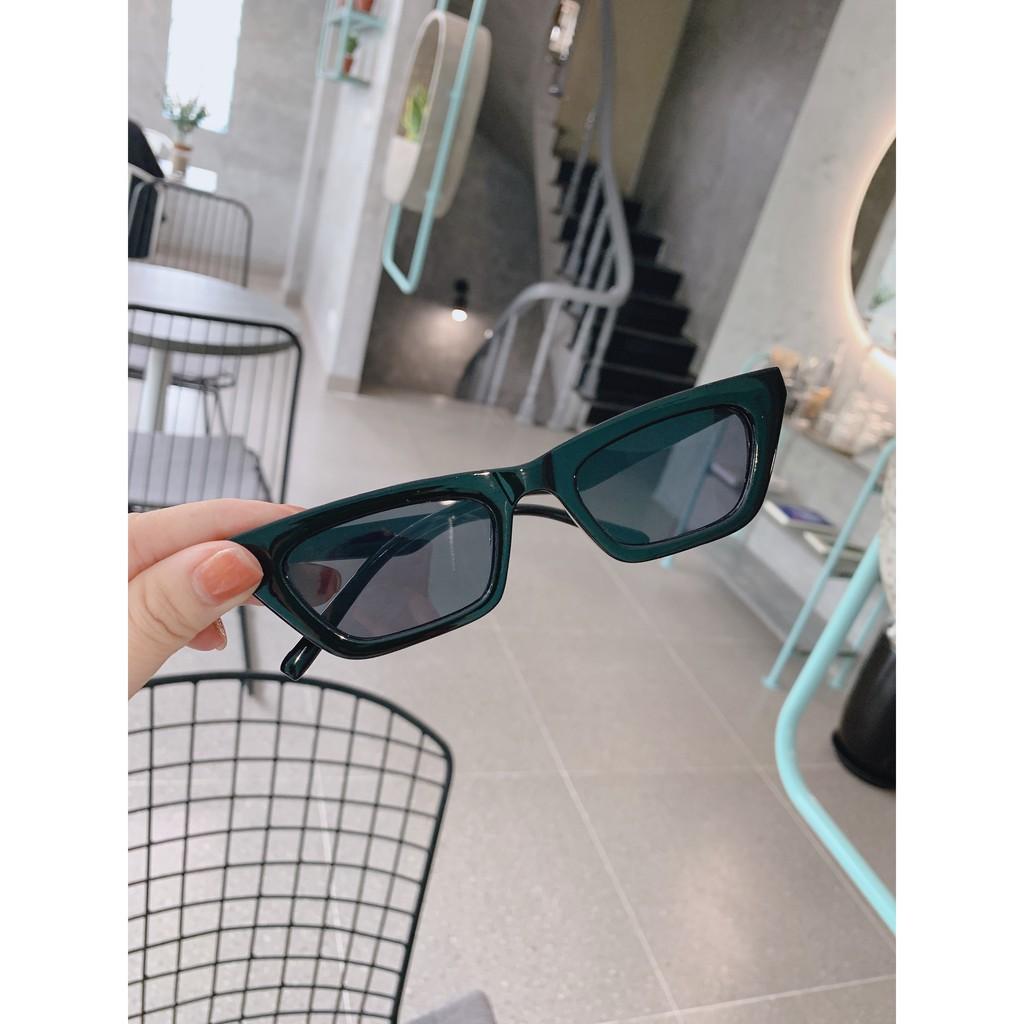Kính mát nữ gọng vuông , kính mát nữ mắt mèo chống tia UV400