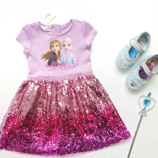Váy Elsa hồng tím kim sa siêu xinh - MẪU MỚI NHẤT