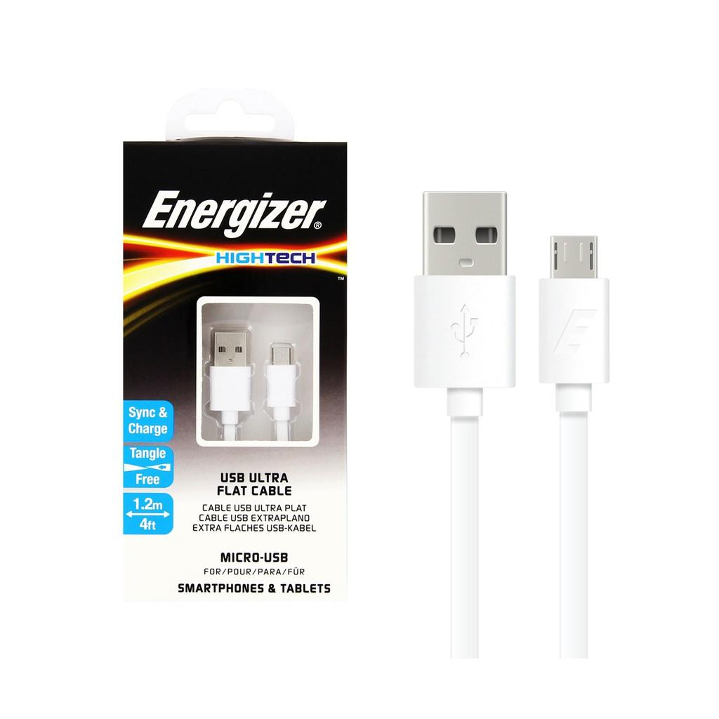Cáp Energizer HT Flat USB Micro 1.2m màu trắng - C21UBMCGWH4 - 3115273 , 775231761 , 322_775231761 , 125000 , Cap-Energizer-HT-Flat-USB-Micro-1.2m-mau-trang-C21UBMCGWH4-322_775231761 , shopee.vn , Cáp Energizer HT Flat USB Micro 1.2m màu trắng - C21UBMCGWH4