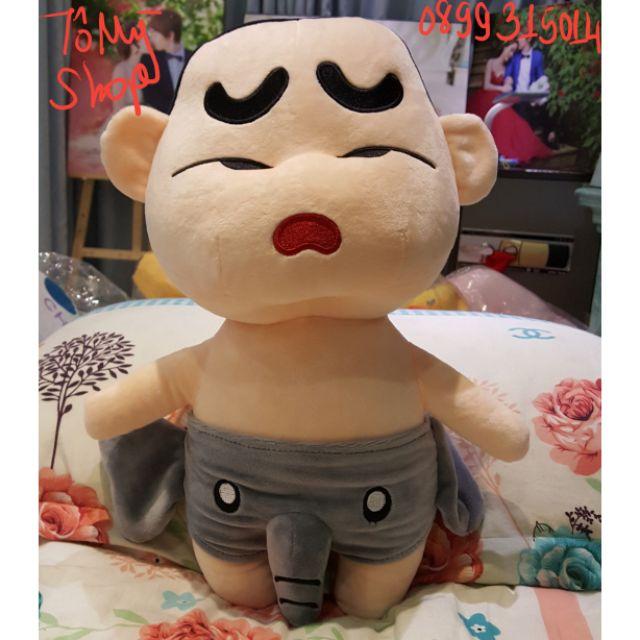 Gấu bông Cu Shin mặc quần vòi voi 25cm - 50cm