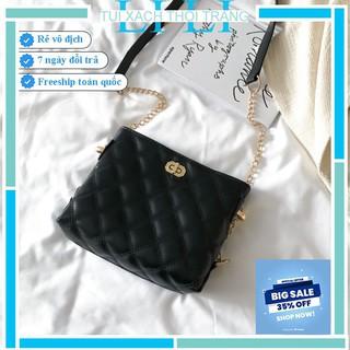 Túi xách nữ trần trám 💖Nhập MYLI02 GIẢM 30K💖 Túi đeo chéo họa tiết trần trám dáng vuông  khóa xoay size 21cm. TX022!