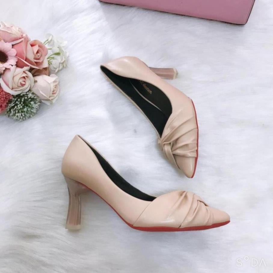 Giày cao gót 💥HÀNG HOT💥giày cao gót nữ 7 cm cách điệu êm mềm, chống trượt [HÀNG SẴN