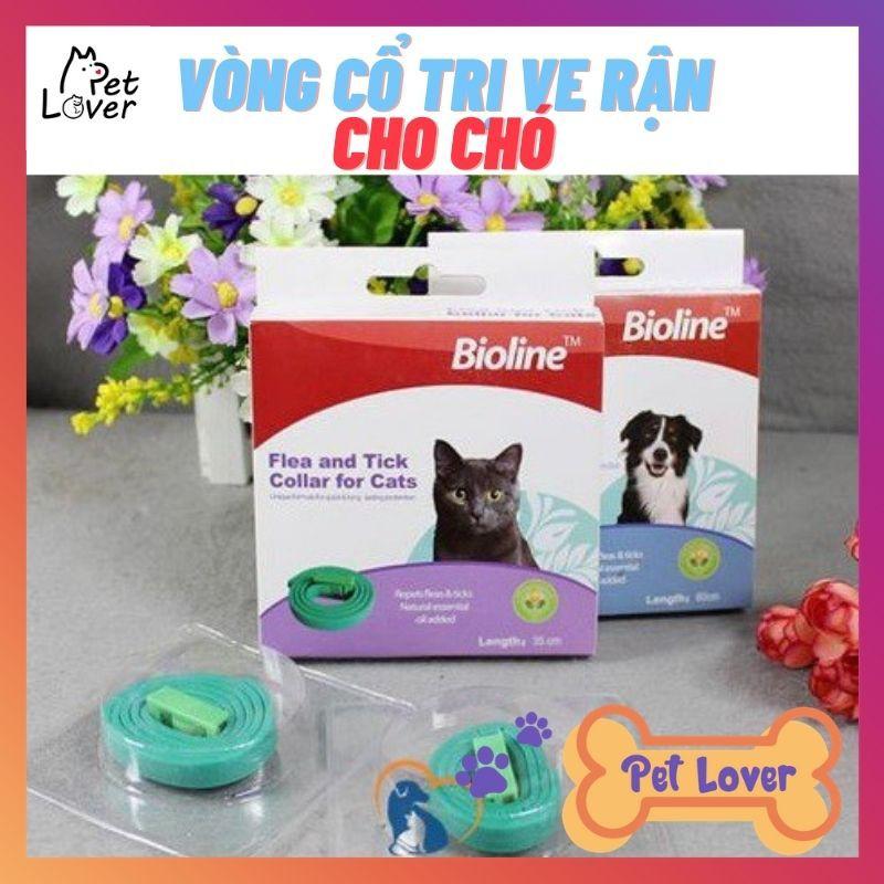 Vòng Cổ Chống Ve Rận Bọ Chét Cho Chó Bioline-