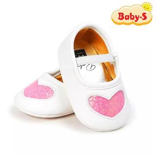 Giày tập đi cho bé gái từ 0 18 tháng tuổi chất vải mềm mịn êm chân hoạ tiết trái tim nhũ xinh xắn Baby-S STD5 thumbnail