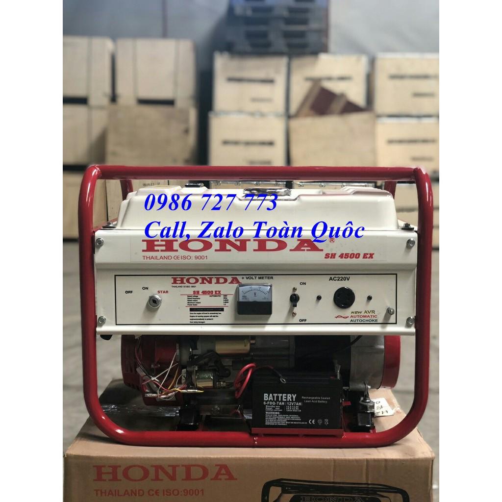Máy phát điện Honda SH 4500EX (3.5kw, chạy xăng, giật nổ)