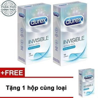 COMBO 3 HỘP DUREX INVISIBLE EXTRA THIN 30 BAO