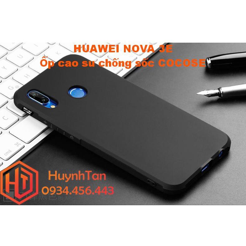 Ốp lưng Huawei Nova 3E _ Ốp cao su chống sốc trơn đen chính hãng Cocose - 2890496 , 1082642498 , 322_1082642498 , 99000 , Op-lung-Huawei-Nova-3E-_-Op-cao-su-chong-soc-tron-den-chinh-hang-Cocose-322_1082642498 , shopee.vn , Ốp lưng Huawei Nova 3E _ Ốp cao su chống sốc trơn đen chính hãng Cocose