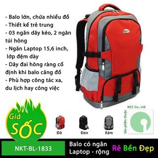 Balo túi xách du lịch nhiều ngăn bằng vải dù - NKT-BL-1833 (Nhiều màu)