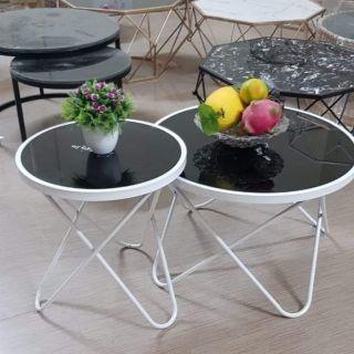 Bàn trà đôi mặt đá (mặt kính )phòng khách mã BTKH 2402 Nội Thất TUÂN PHƯƠNG [GIÁ HỦY DIỆT ]