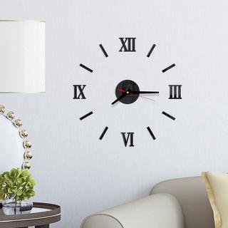 Đồng hồ nhựa Acrylic 3D tráng gương độc đáo dán trang trí tường DIY phong cách châu Âu