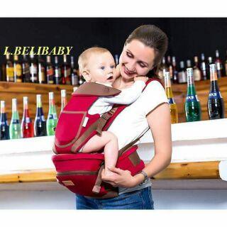 Địu Ngồi trẻ em L.BeliBaby 12 tư thế có đỡ cổ cho bé.