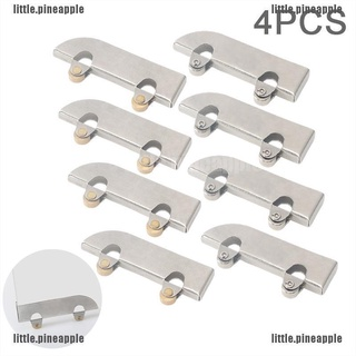[Pine] 4PC Stainless steel pulley 5mm glass sliding door wheel clamp track roller