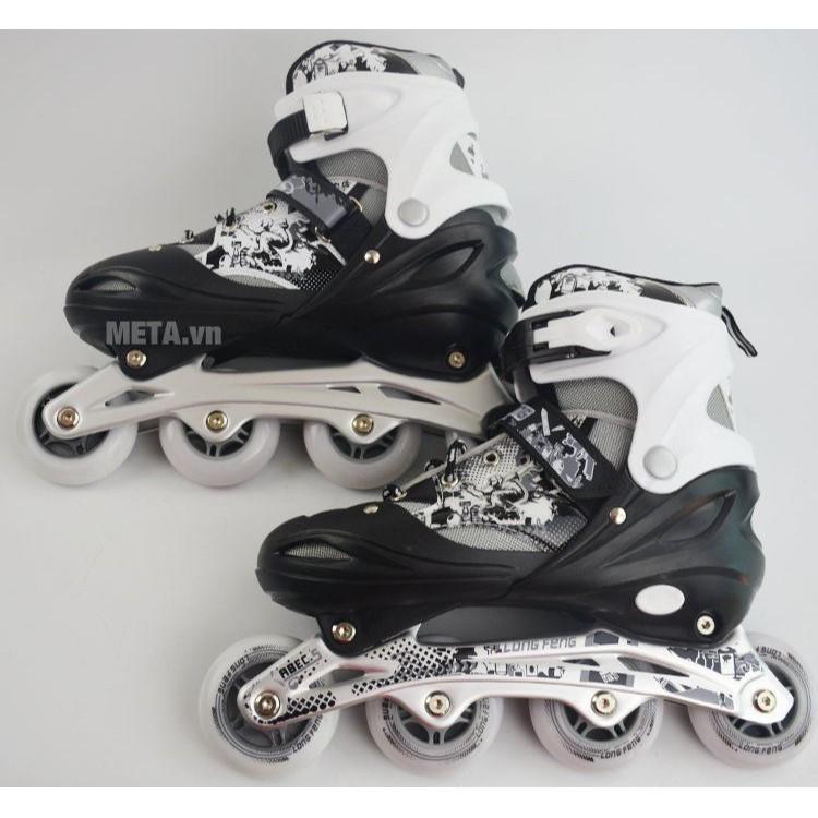 Giày Trượt Patin cao cấp Longfeng 906 có đèn 4 màu Màu xanh, màu đỏ, màu đen, màu hồng