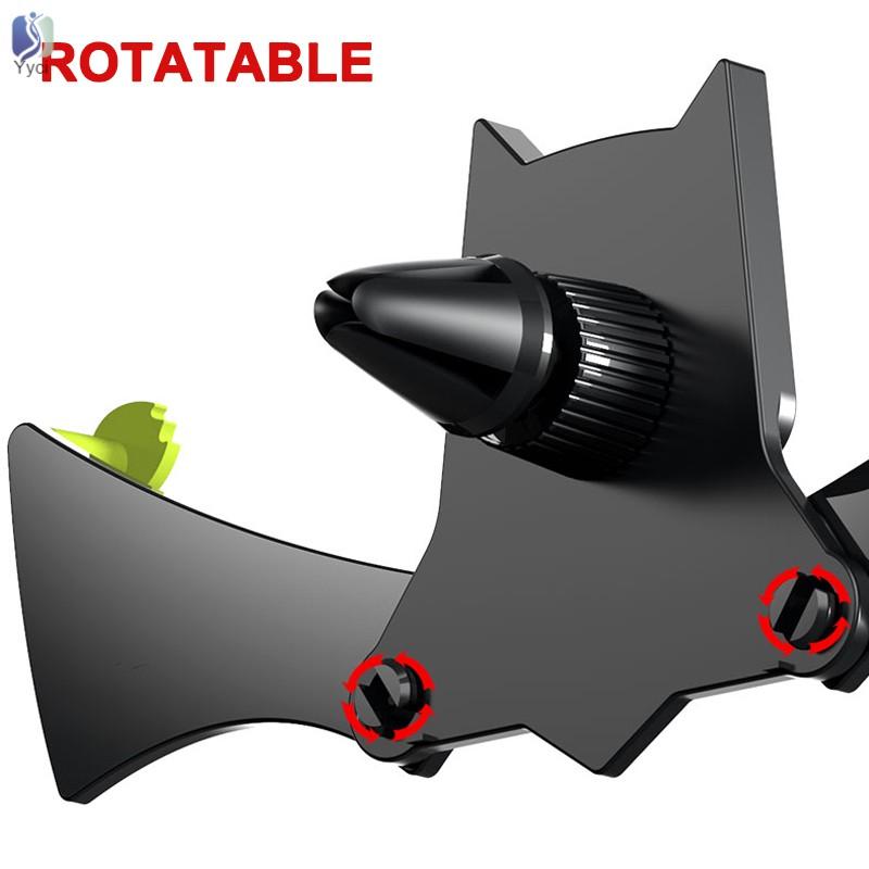 Yy Car Air Vent Phone Holder Mount Clip Bat Safe Grip for iPhone X/Xmax Samsung @VN