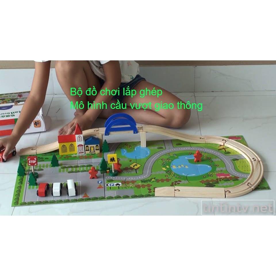 bộ đồ chơi mô hình cầu vượt giao thông