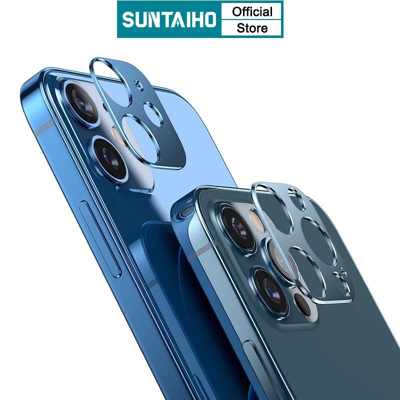 Khung nhôm SUNTAIHO bảo vệ ống kính máy ảnh điện thoại iphone 12 mini 11 Pro Max 6s 7 8 XS Max XR