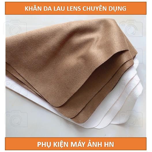 Khăn da lau lens chuyên dụng, không trầy xước ống kính, không để lại sợi