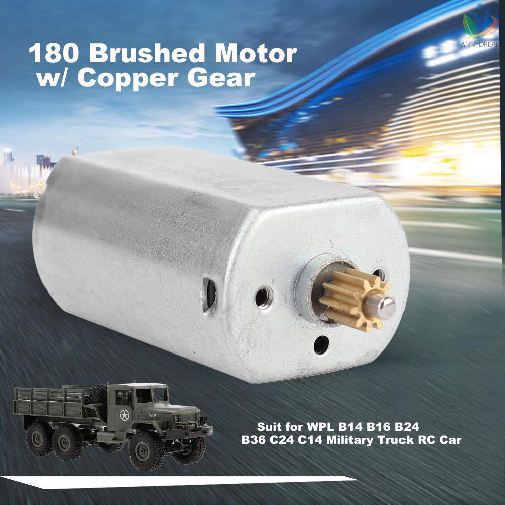 F&D 180 Brushed Motor w/ Copper Gear for WPL B14 B16 B24 B36 C24 C14 2.4G RC Crawler Military Truck