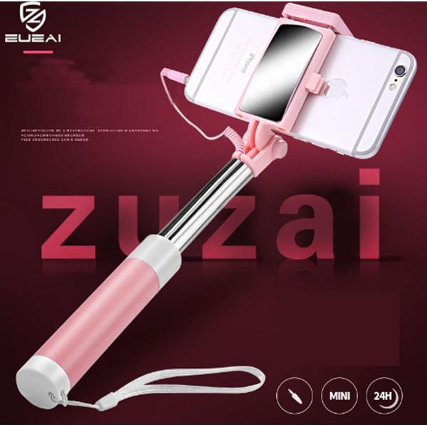 Gậy chụp ảnh selfie có gương, bằng thép không gỉ – ZuZai bằng thép không gỉ cao cấp