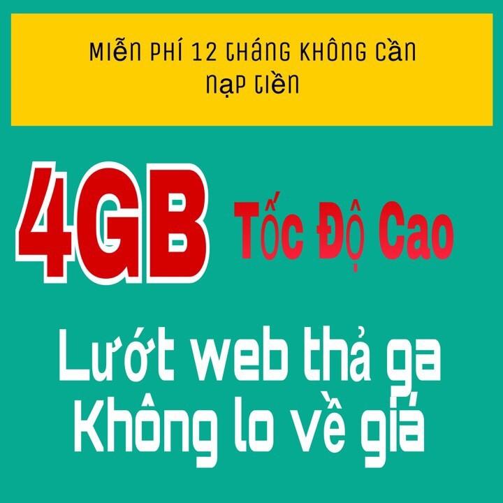 Sim 4G viettel – free data 1 năm không mất phí