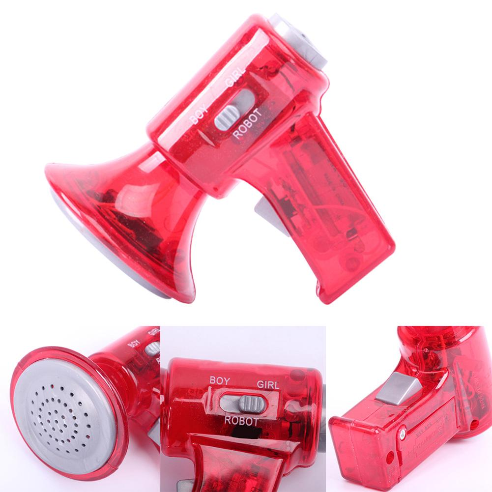 LED Lights Voice Changer Sound Effects Megaphone Plastic Gift Children Red Loud Toy Mini Size