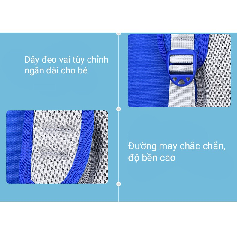 Balo chống gù cho bé tiểu học 6-12 tuổi họa tiết kẻ sọc thẳng