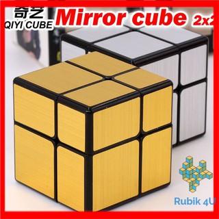 Rubik gương 2×2 QiYi Mirror 2x2x2 trơn không kẹt rít đồ chơi trí tuệ cho trẻ