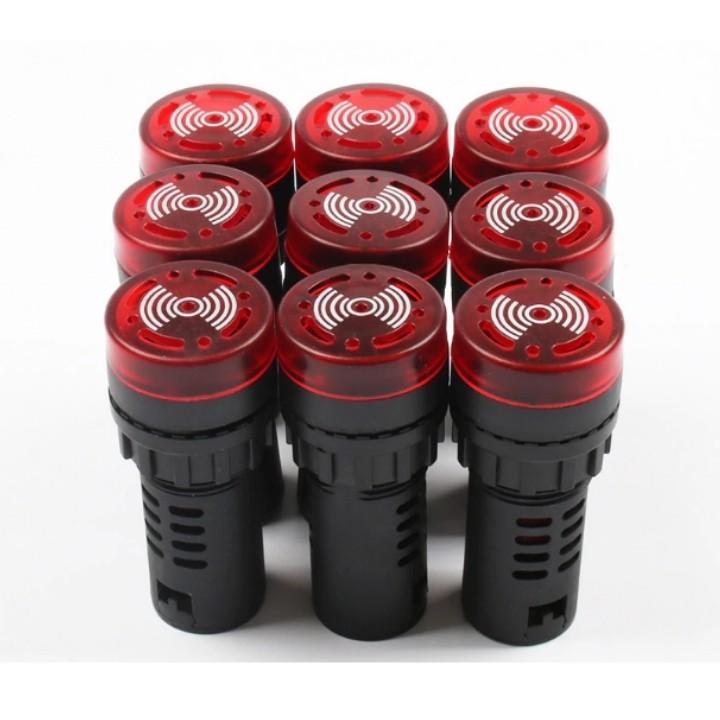 Đèn còi báo động AD16-22SM phi 22mm màu đỏ gắn tủ điện