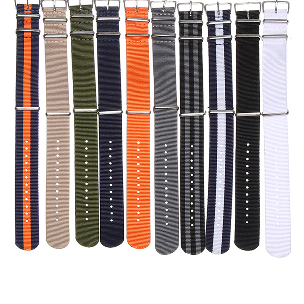 Dây Đeo Đồng Hồ Thể Thao Bằng Nylon Bện Nhiều Màu Sắc Tùy Chỉnh Thời Trang Cho Nam Và Nữ 18 20 22 mm