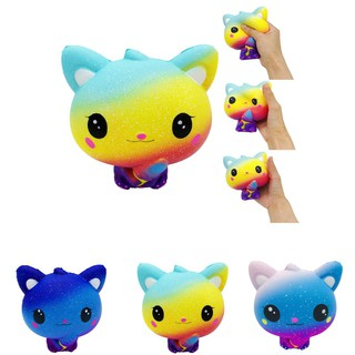 Colourful Galaxy Cat Scented Charm Slow Rising Squeeze Stress Reliever Toy