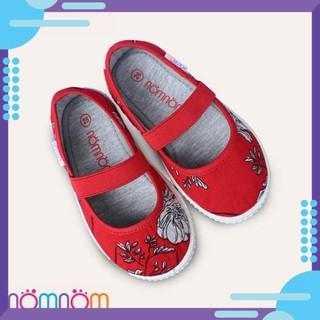 [HOT] Giày búp bê cho bé gái quai chun NomNom EPG1913 màu Đỏ