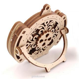 Gift Home Mechanical Transmission Stand Toy Wooden Model Wall Perpetual Calendar