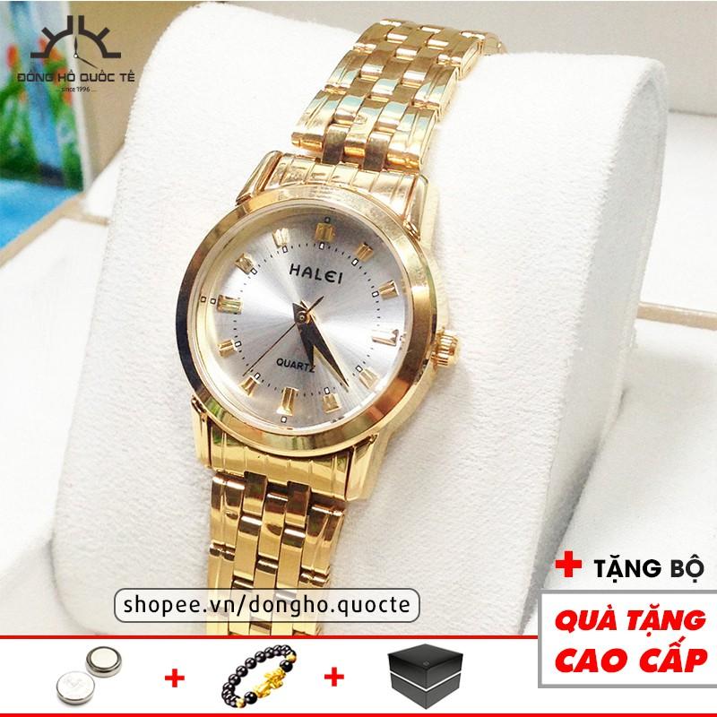 Đồng hồ nữ Halei 8686G Gold chính hãng thanh lịch đồng hồ nữ tinh tế