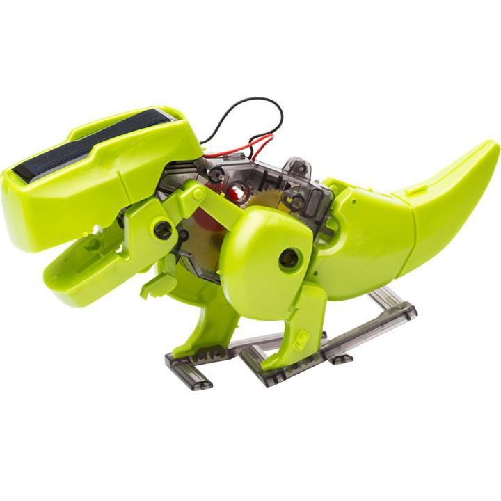 [Giá shock]Bộ lắp ráp khủng long T-Rex năng lượng mặt trời 4in1 (221)