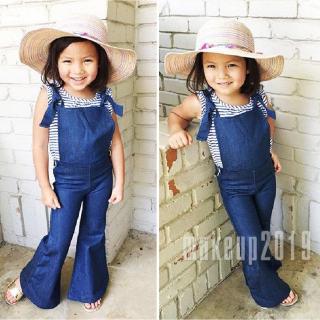 Mu♫-Fashion Newborn Toddler Kids Girls Denim Bandge Strap Bib Pants Overalls Romper Jumpsuit Playsuit Clothes 1-6Years