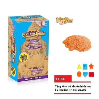 Hộp đồ chơi cát động học đạt tiêu chuẩn an toàn đồ chơi Motion Sand MS-800G – Tặng kèm 6 khuôn nhựa