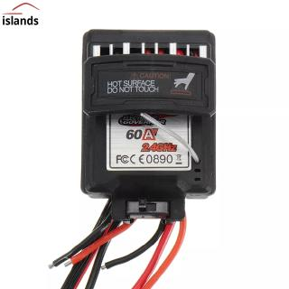 60A 7.4V Brushed Speed Controller ESC for Xinlehong 9125 1/10 RC Car Parts No.25-ZJ07